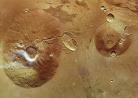 Volcanes en Marte