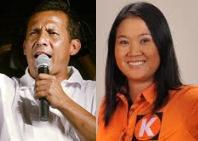 Humala y Fujimori a la segunda vuelta