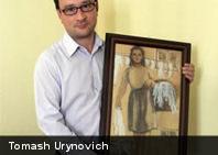Un hombre se casa con un cuadro