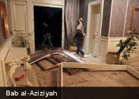 Ataques de la OTAN destruye edificio de la residencia de Gaddafi