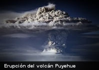 La erupción del volcán Puyehue vista desde el espacio
