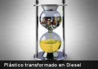 Residuos de plástico transformados en diesel