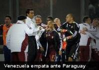 Venezuela clasifica invicta a cuartos de final al igualar 3-3 con Paraguay en Copa América