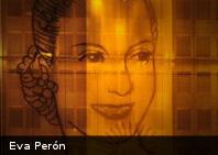 Inauguran gigantografía en homenaje a los 59 años de la muerte de Eva Perón