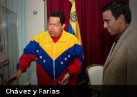 Presidente Chávez se reúne con Cesar Farías, director técnico de La Vinotinto