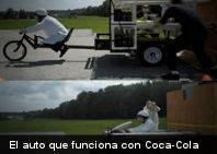 El auto que funciona con Coca-Cola y Mentos (+Video)