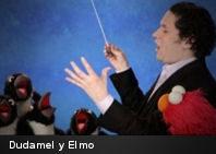 Dudamel dirige junto a Elmo en Plaza Sésamo