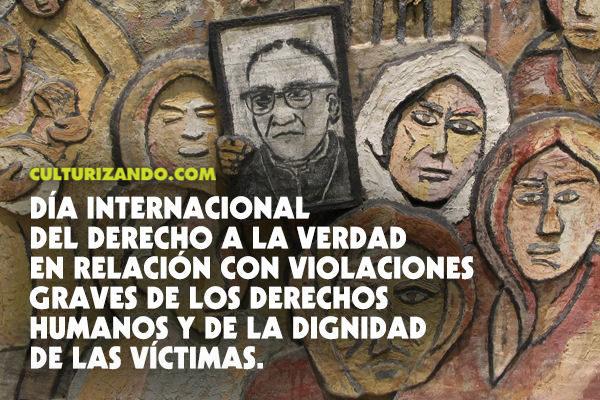 Hoy es el Día Internacional del Derecho a la Verdad