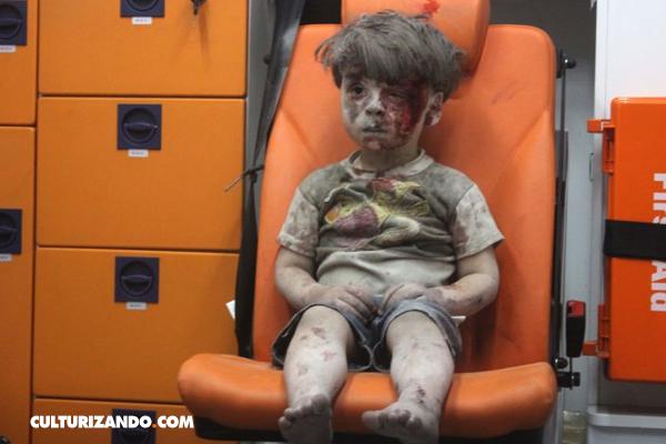 Dramática foto de niño de 5 años recoge horror de la guerra