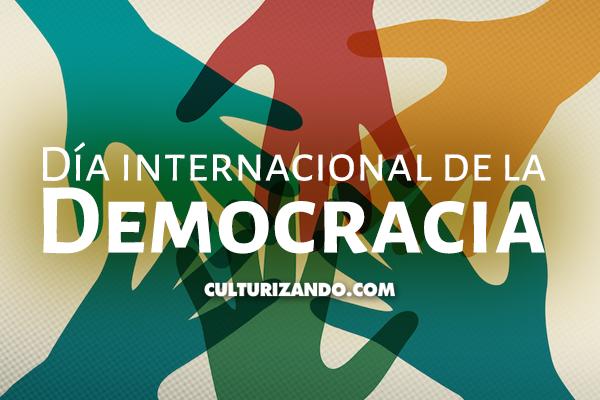 Hoy es el Día Internacional de la Democracia