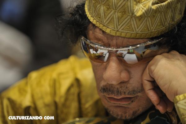 Un día como hoy murió Muamar el Gadafi