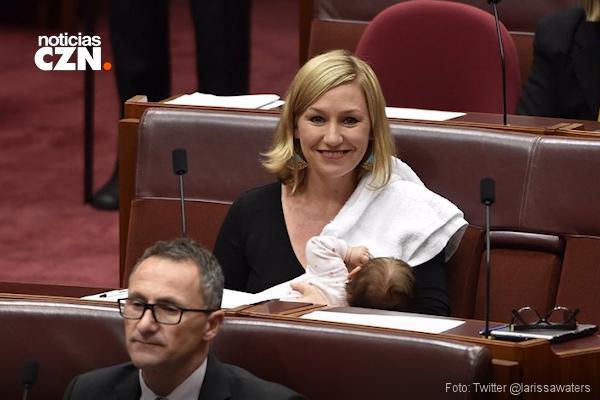 Bebé de dos meses hace historia en el Parlamento de Australia