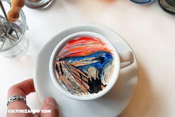 El barista que transforma las tazas de café en obras de arte