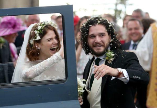 Mira las fotos de la boda de  Kit Harington y Rose Leslie