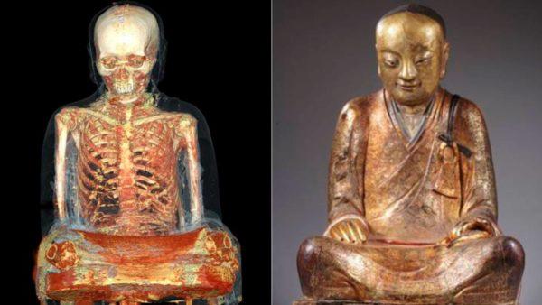 Descubren el cadáver de un monje dentro de una estatua de Buda