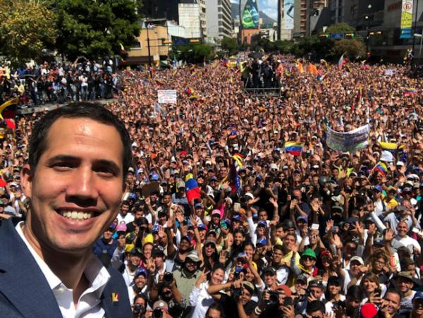 Guaidó anuncia que el 23 de febrero ingresará ayuda humanitaria a Venezuela