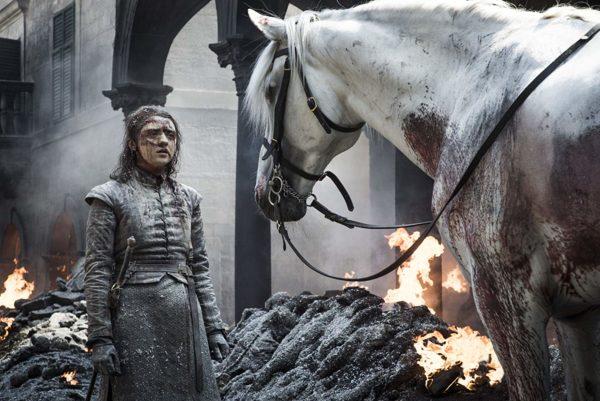 ¿Cuál es el significado detrás del caballo de Arya Stark?