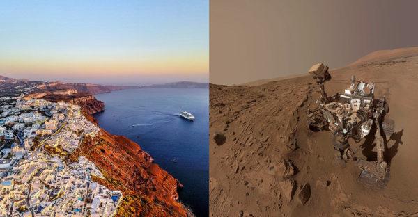 El volcán de Santorini, nuevo análogo terrestre de Marte